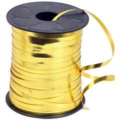 Gold Metallic Curling Ribbon - 100m, Radar B36104, 1 Roll