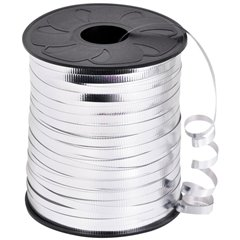 Silver Metallic Curling Ribbon - 100m, Radar B36109, 1 Roll