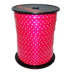 Magenta with dots Curling Ribbon - 10mm, Radar B41051, 1 Roll