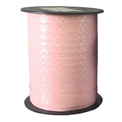 Pink Curling Ribbon with white dots - 10mm x 250m, Radar B41058