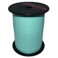 Blue Curling Ribbon with white dots 10mm x 250m, Radar B41059