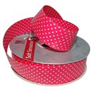 Magenta Curling Ribbon with white dots - 34mm, Radar B41078