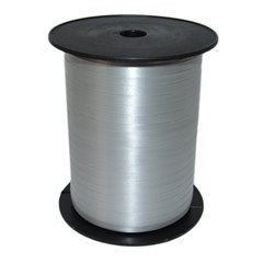 Silver Curling Ribbon 5mm x 500m, Radar B65719, 1 Roll