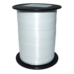 Bianco(White) Curling Ribbon 5mm x 500m, Radar B65411