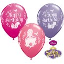 """11"""" Printed Latex Balloons, Sofia the 1st Happy Birthday, Qualatex 18708, Pack of 25 Pieces"""