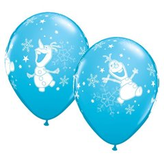 """Frozen Olaf Dancing Latex Balloons - 11""""/28cm, Qualatex 19438, Pack of 25 Pieces"""