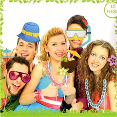 Party photo accessoires on stick, OOTB OT181063, Pack of 12 pieces