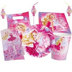 Set articole masa pentru petrecere - Barbie, Amscan 552440, 56 piese