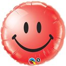 Sweet Smile Face Red Foil Balloon - 45cm, Qualatex 29636