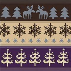 Christmas Luncheon Napkins -  33 cm, Amscan RM552026, Set 20 buc