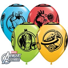"11"" Avengers Printed Latex Balloons, Qualatex 18673, Pack of 25 Pieces"