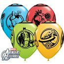 """11"""" Avengers Printed Latex Balloons, Qualatex 18673, Pack of 25 Pieces"""