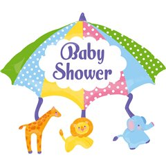 "Baby Shower Umbrella SuperShape Foil Balloon - 32""/81cm, Amscan 26806"