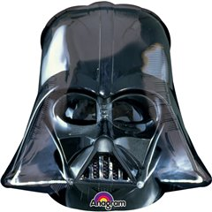 Balon mini figurina Star Wars Darth Vader - 24cm, umflat + bat si rozeta, Amscan 3016302