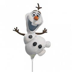 Balon mini figurina Olaf - 23cm + bat si rozeta, Amscan 3095702