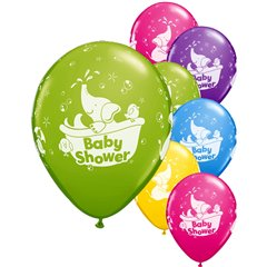 Baby Shower Assorted Latex Balloons, Qualatex 18508, Pack of 25 pieces