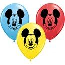 "Baloane latex 5"" inscriptionate cu Mickey Mouse, Qualatex 45336, Set 100 buc"