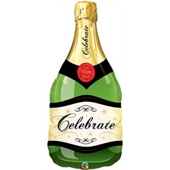 "Champagne Bottle Super Shape Foil Balloon - 39"", Qualatex 16122"