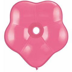 "Balon latex floare 6""/15cm rose - GEO Blossom, Qualatex 37662"