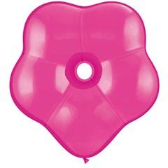 "Balon latex floare16""/41cm Wild Berry - GEO Blossom, Qualatex 37817, Set 25 buc"