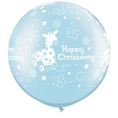 3' Jumbo Latex Balloons, Christening Soft Giraffe, Qualatex 25067, Pack of 2 pieces