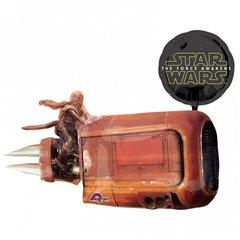 Star Wars The Force Awakens Rey's speeder SuperShape Foil Balloon, Amscan 3162201