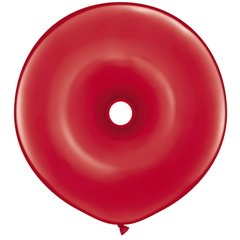 "Baloane latex GEO Donut 16""/41cm rosii, Qualatex 39748, Set 50 buc"
