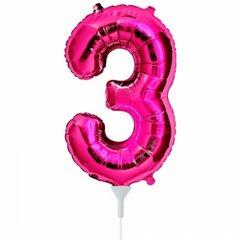 Balon folie cifra 3 magenta - 41cm, Northstar Balloons 00445