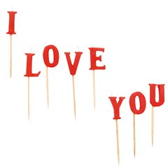 Valentine's I LOVE YOU Candles, Amscan RM550361