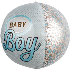 "Balon Folie Orbz Sfera Baby Boy - 17""/43cm, Northstar Balloons 01027"