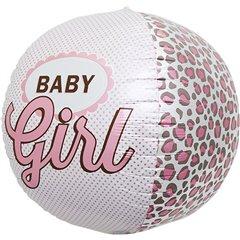 "Balon Folie Orbz Sfera Baby Girl - 17""/43cm, Northstar Balloons 01026"