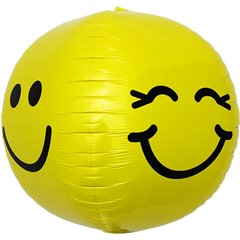 "Smiley Face Orbz Foil Balloon - 17""/43cm, Northstar Balloons 01135"