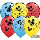 "Baloane latex 11""/28cm Mickey Mouse, Qualatex 18688, Set 25 buc"