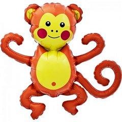 Balon mini figurina maimuta - 36cm, umflat + bat si rozeta, Northstar Balloons 00650