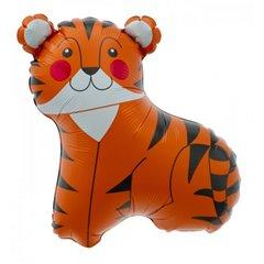 Balon folie mini figurina tigru - 36cm, umflat + bat si rozeta, Northstar Balloons 00602