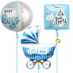 Baby Boy Balloon Bouquet - 43/46/102cm, Northstar Balloons 01240