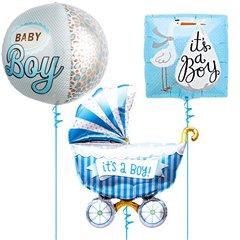 Buchet baloane folie Baby Boy - 43/46/102cm, Northstar Balloons 01240