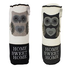 "Pernuta decor cu bufnita ""Home sweet home"" - 38x13cm, Radar OT190159"