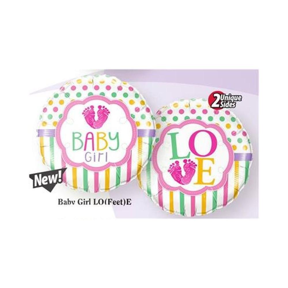 "Baby Girl Foil Balloon -18""/45cm, ..."