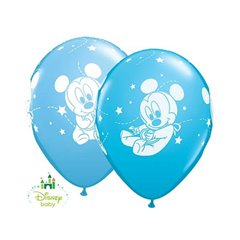 "11"" Printed Latex Balloons -  Baby Mickey Mouse, Qualatex 42839, Pack of 25 Pieces"