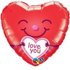 Balon folie 45cm  Love You, Qualatex 21823