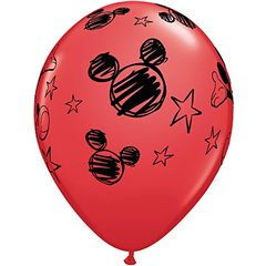 "12"" Mickey Mouse Latex Balloons, Qualatex 19231, Pack of 6pieces"