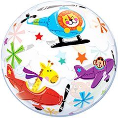 "Flying Circus Bubble Balloon - 22""/56cm, Qualatex 25279"