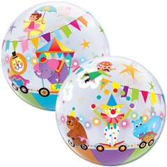 "Circus Parade Bubble Balloon - 22""/56cm, Qualatex 25243"