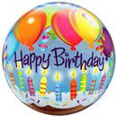 "Happy Birthday Bubble Balloon - 22""/56cm, Qualatex 25719"