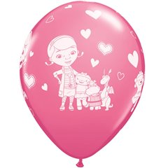 12'' Doc McStuffins Latex Balloons, Qualatex 19235, Pack of 6pieces