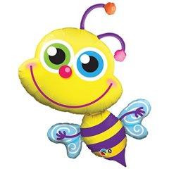 """Bee Foil Balloon - 40""""/102cm, Qualatex 11577"""