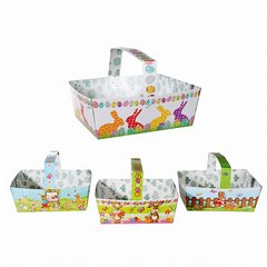 Paper gift basket with handle for Easter- 6 X15 cm, Radar OT100863