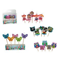Cake Candles for kids - 7cm, Radar OT181021, Pack of 5 pieces