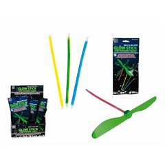 Glow stick with helicopter topper - 16cm, Radar OT90/0997